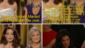 Tina Fey og Amy Poehler brillerede atter som værter til Golden Globes. Det blev til bidske sidebemærkninger til både Bill Cosby og George Clooney, der modtog aftenens ærespris.