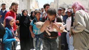 De intensive bombeangreb på Aleppo ser ud til at have et særligt, ufatteligt, kendetegn