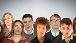 The British National Party kaster vildt om sig med bebrejdelser i deres nye promoverings video.