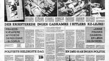 Mens Europa drøftede, om holocaust-benægtelse skal ind som en forbrydelse i straffeloven, blev en af Danmarks tidligste holocaust-benægtere, Erik Haaest, begunstiget med 100.000 fra Kunstrådets litteraturudvalg til sine nazi-sympatiserende skriverier. Er det tidsånden eller ændringen i regeringens smagsdommer-politik, der gjorde udslaget i den absurde kulturstøtte?