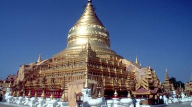 Shwezigon-pagoden i Nyaung-U stammer fra det 11. århundrede, og navnet Myanmar har rødder næsten lige så langt tilbage.