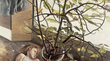 Planter går i forbindelse med personerne i Lucien Freuds billederne, der emmer af fortættet nærvær. Maleriet her hedder -Stort interiør Paddington- (1968-69). Olie på lærred.