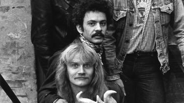 Claus Bøhling (forrest), Karsten Vogel, Jess Stæhr (bagerst tv.) og Jeppe Reipurt, Secret Oysters, 1976