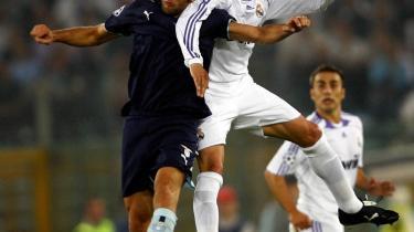 Nedtur. Real Madrids Sergio Ramos- (billedet) sololøb i anden halvleg inklusiv roterende bluff-driblinger à la Robinho eller Cristiano Ronaldo samt elegant kropsfinte blev ikke belønnet med scoring.