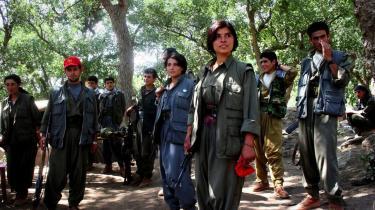 Kurdiske partisaner fra PKK nær den tyrkiske grænse. I går meddelte organisationen, at den agter at flytte kampene ind på tyrkisk område.