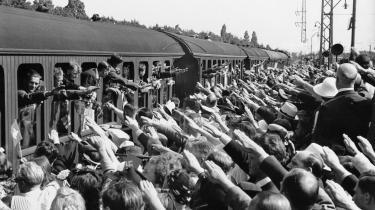 Frikorps Danmarks afrejse fra Hellerup station til østfronten 1941.