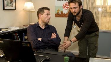 Serien -Sommers- brødre, Adam og Jakob Sommer, gav i går smagsprøver på serien for pressen i TV-byen i Søborg.
