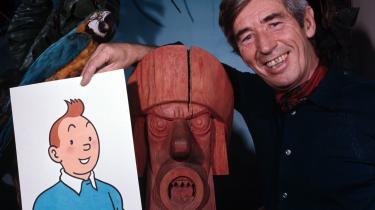 Georges Remis tegnede Tintin under signaturen R.G. - på fransk Hergé. Det begyndte med en ugentlig stribe i den ærkereaktionære belgiske avis Le Vingtiéme Siécle. Herfra strømmede historier om den blonde journalist på eventyr, og læser man de første udgaver af -Tintin-, er de nærmest anti-semitiske. Da Tintin er på rejse i Mellemøsten, er skurkene jødiske bosættere i Palæstina og overskurken Rastapoulos er - symptomatisk nok - jøde.