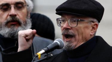 Digteren og oppositionspolitkeren Eduard Limonov ved en protesttale i Moskva for nylig.