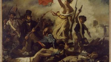 Friheden i kvindelig figur, her symboliseret ved Eugène Delacroix- billede fra den franske revolution i 1830, -La Liberté guidant le peuple-. Feministisk inspireret frihedskamp er stadig et aktuelt tema, dog skal bannerførerne nu findes på den anden side af Atlanten, hvor flere fremtrædende amerikanske filosoffer sætter markante spor i det akademiske og politiske miljø.