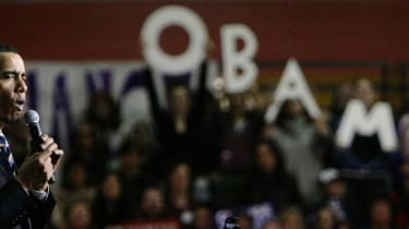 """""""Hvis man ved, hvad man kæmper for, koster det ikke noget at række hånden ud og være tolerant. Det svækker os ikke. Det styrker os,"""" sagde Barack Obama forleden på et valgmøde i New Hampshire."""