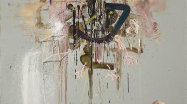 Andreas Golders værk 'Værre bliver det ikke' antyder både kunstnerens frie tilgang til maleriet og den distance til kunsten og det at være kunstner, som han mener er meget vigtig.