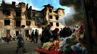 Krigens børn. Fra Tjetjeniens hovedstad Groznyj, der danner rammen om Åsne Seierstads nye bog.