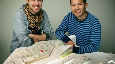 Jakob Christensen og Jan Tanaka blev nummer fire i arkitektkonkurrencen om udvidelsen af Stockholms Hovedbibliotek. Med deres fjerdeplads overhalede de f.eks. forslaget fra tegnestuen B.I.G. (Bjarke Ingels Group), hvor de begge har været i praktik.
