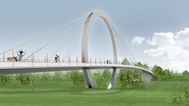 Den unge danske arkitektstuderende Tim Nørlund har vundet en stor international arkitektkonkurrence med over 100 deltagere med dette bro-design med ringen som bærende element.