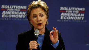 Hillary Clinton har på det seneste ikke haft det store held med at få valgkampen til at dreje sig om USA-s økonomiske nedtur.