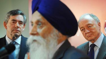 "span class=""photo-credit"">Foto: Valgmøde i Singh Sabha East London Gudwara Temple."