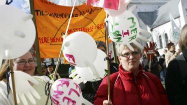 Storkonflikten er allerede blusset op i Aalborg, hvor et par hundrede sosuassistenter smed kitlen i dag. Tyvstarten er en sympatierklæring, lyder det