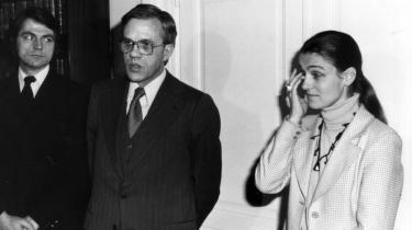 Ritt Bjerregaard måtte i 1978 trække sig som undervisningsminister efter voldsom kritik af en hotelregningi forbindelse med en tur til Paris. Arkiv