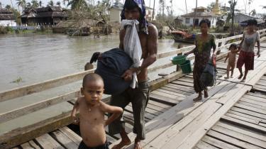 Bogalay i det sydlige deltaområde er et af de hårdest ramte steder, og der er endnu ikke kommet hjælp fra hverken nødhjælps-organisationer eller militærstyret.