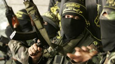 Medlemmer af Islamisk Jihad under en pressekonference på Gazastriben. Ifølge norsk terrorekspert er det muligt at få grupper til at lægge terroren på hylden, hvis man tilbyder dem en tilstrækkelig attraktiv udvej.