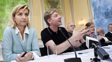 Udviklingsminister Ulla Tørnæs og lederen af Copenhagen Consensus Bjørn Lomborg ved den afsluttende pressemøde fredag, hvor et ekspertpanels liste over klodens 10 største udfordringer blev præsenteret. Øverst på listen ligger mikronæringsstoffer til børn