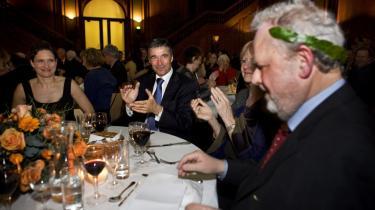 Anders Fogh afslørede sig som kosmopolit i sin hyldest af forfatteren Jens Smærup Sørensen ved laureatfesten.