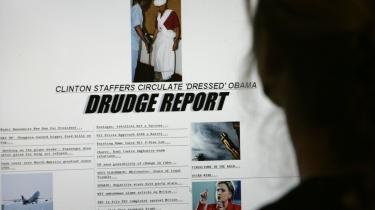 Nyhedssiden Drudge Reports indflydelse er vokset kolossalt, og i dag mener mange, at Matt Drudge mere end nogen anden journalist påvirker den nationale debat.