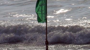 Hamas er trængt op i en krog. Det er tæt på umuligt både at løfte regeringsansvaret og samtidig lindre lidelserne for befolkningen. På billedet ses en palæstinenser, der holder Hamas-s flag op i luften ud for Gaza-striben, hvor Hamas holder sommerlejr for mdlemmerne.