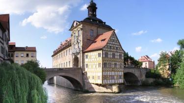 Bamberg af UNESCO erklæret for verdenskulturarv. Den har landets største uskadte historiske bykerne og en ubrudt øltradition.