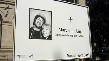Det tyske trafiksikkerhedsråd og trafikministeriet har det sidste par måneder kørt kampagnen -Ned med farten!-