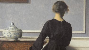 Hammershøi: Interiør, ung kvinde set fra ryggen. Ca. 1903-04