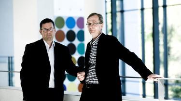 Samarbejder som det museumsdirektør Karsten Orth (tv) og Nordea Danmark-fondens direktør Torben Klein har indgået, er til fordel for dansk kulturliv, mener Brian Mikkelsen.
