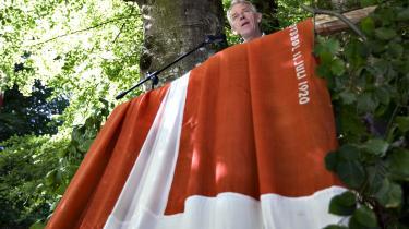 Villy Søvndal har fået det bedste ud af sine mandater. Her holder han grundlovstale i Himmerland.
