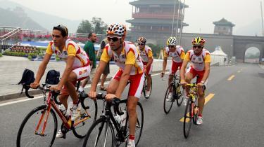 Det spanske OL-cykelhold består af profiler som (fra venstre) Alberto Contador, Samuel Sanchez, Oscar Freire, Carlos Sastre og Alejandro Valverde.