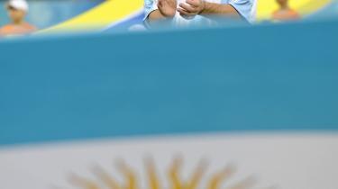 Lionel Messi inden Argentinas første kamp ved dette OL, hvor de slog Elfenbenskysten 2-1.