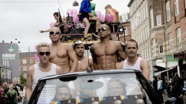 Den årlige Copenhagen Pride Parade skal markedsføre København som de homoseksuelles fristad med fest og farver. Men det er ikke alle homoseksuelle, der mener, at der er noget at fejre. Billedet er fra sidste års Pride Parade.