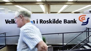 For mindre end et halvt år siden viste regnskaberne, at Roskilde Bank fortsat tjente penge.Det kom hurtigt til at ændre sig.