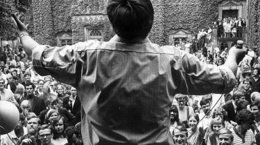Studenteroprøret 1968, da stidenterne virkelig tog del i det politiske liv. I dag har studenterrådenes monopol på politik kvalt de studerendes engagement.