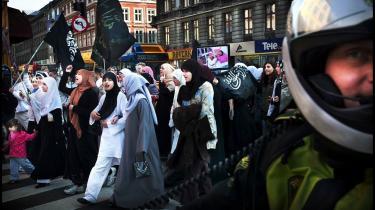Hizb ut-Tahrir har ved flere lejligheder været i stand til at samle flere hundrede mennesker til demonstrationer i København.