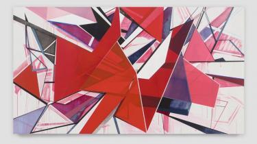 'For Elaine' af Torben Giehler152 x 279 cm. Akryl på lærred, 2008.