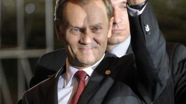 Den polske premierminister, Donald Tusk, var ikke meget for at dele spotlyset med landets præsident.