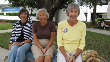 Bailee Green, Harriet Wolfson og Barbara Meyers fra West Palm Beach har besluttet sig for, at de vil støtte Barack Obama.