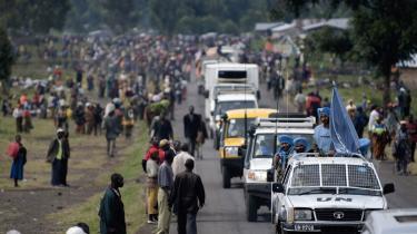Anslået én million mennesker ud af en befolkning på seks millioner menes nu at være fordrevet og på flugt i Congo.