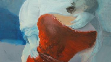 Bjørn Eriksens genmaling af Rembrandts maleri -Jacobs kamp mod englen-. I Silkeborg er kendte værker fra kunstens historie af Rembrandt, Picasso mfl. genfortolket af nulevende kunstnere. De har fokus på det menneskelige møde. Nogle af dem skulle aldrig have været udstillet, så dilettantiske er de.