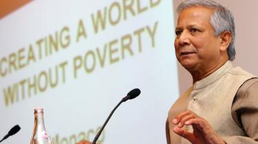 Muhammad Yunus gæster i dag Danmark. Yunus er manden bag Grameen Bank, og han fik i 2006 Nobels fredspris.