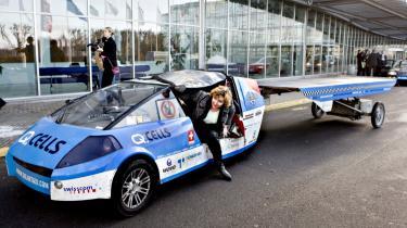 Klimaminister Connie Hedegaard tager plads i en bil drevet af solceller i forbindelse med konferencen Nordic Climate Solutions i november 2008 i Bella Center i København. I tredje kvartal sidste år gik otte pct. af al dansk venture-kapital til såkaldt -cleantech-, og det er nu det tredjestørste investeringsområde herhjemme.