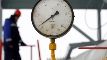 Der var ikke meget tryk på gassen i går i Gazproms anlæg i den russiske by Sudzha.
