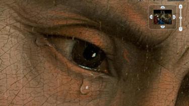 Nærbillede af Rogier van der Weydens -Kristi nedstigning fra korset-, som det nu er muligt at se via Google.