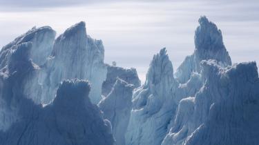 Isbjerge nær Qeqertarsuaq, tidligere kendt som Godhavn, i Grønland.